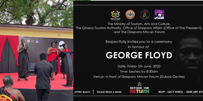 Government of Ghana holds funeral service for George Floyd in Ghana