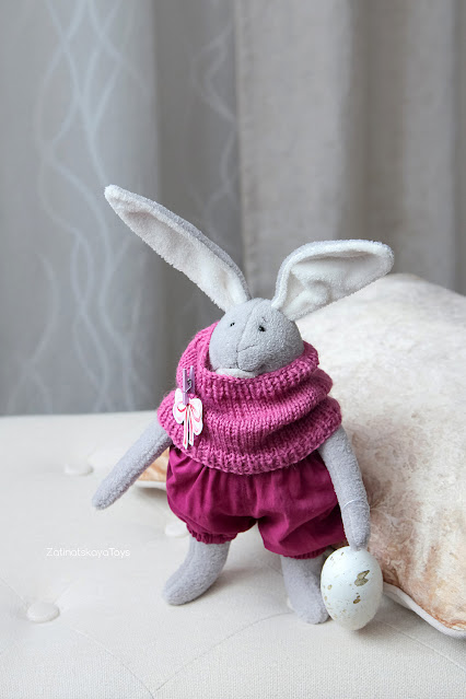 Stuffed bunny plush for non-candy Easter basket