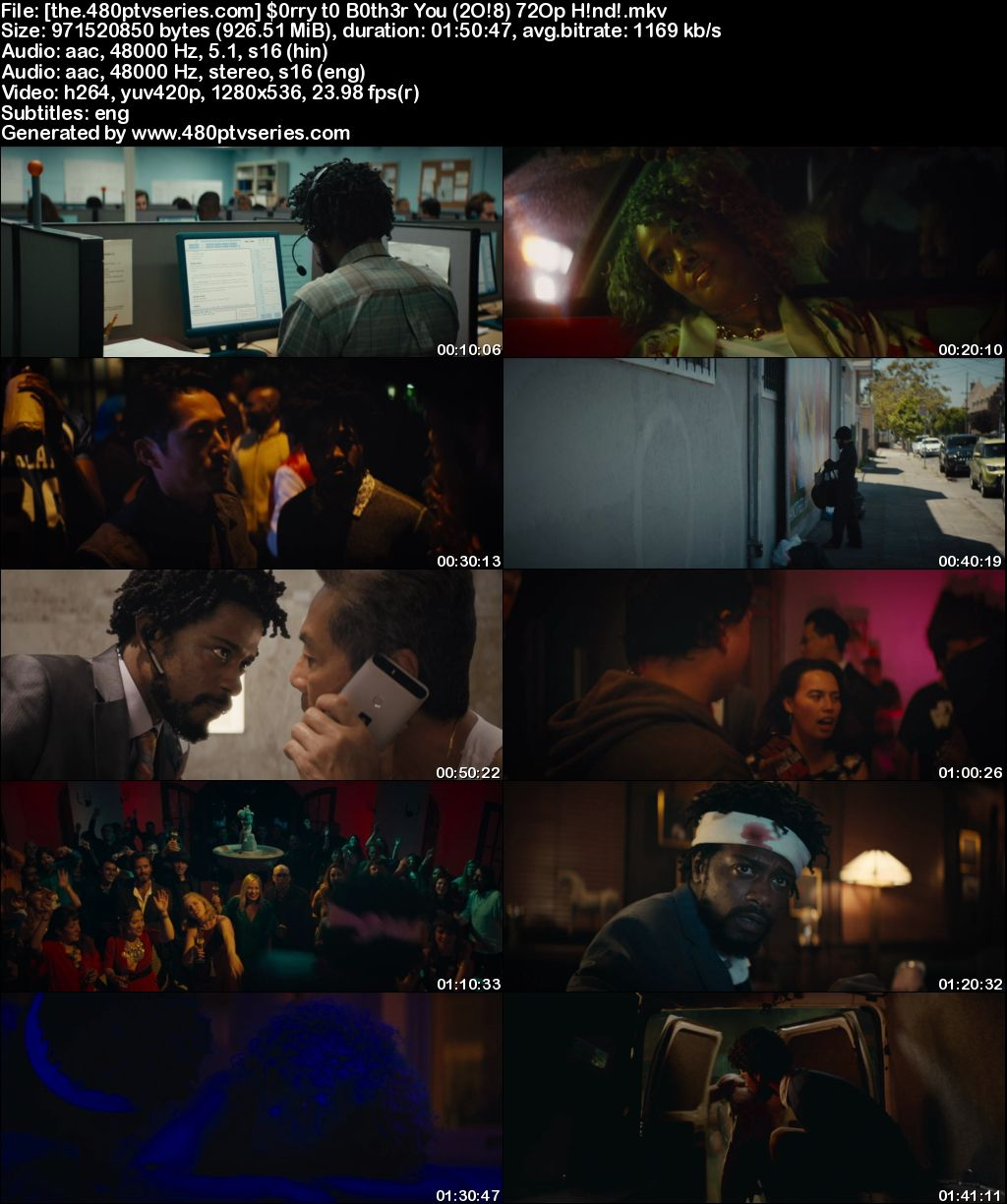 Watch Online Free Sorry to Bother You (2018) Full Hindi Dual Audio Movie Download 480p 720p Bluray
