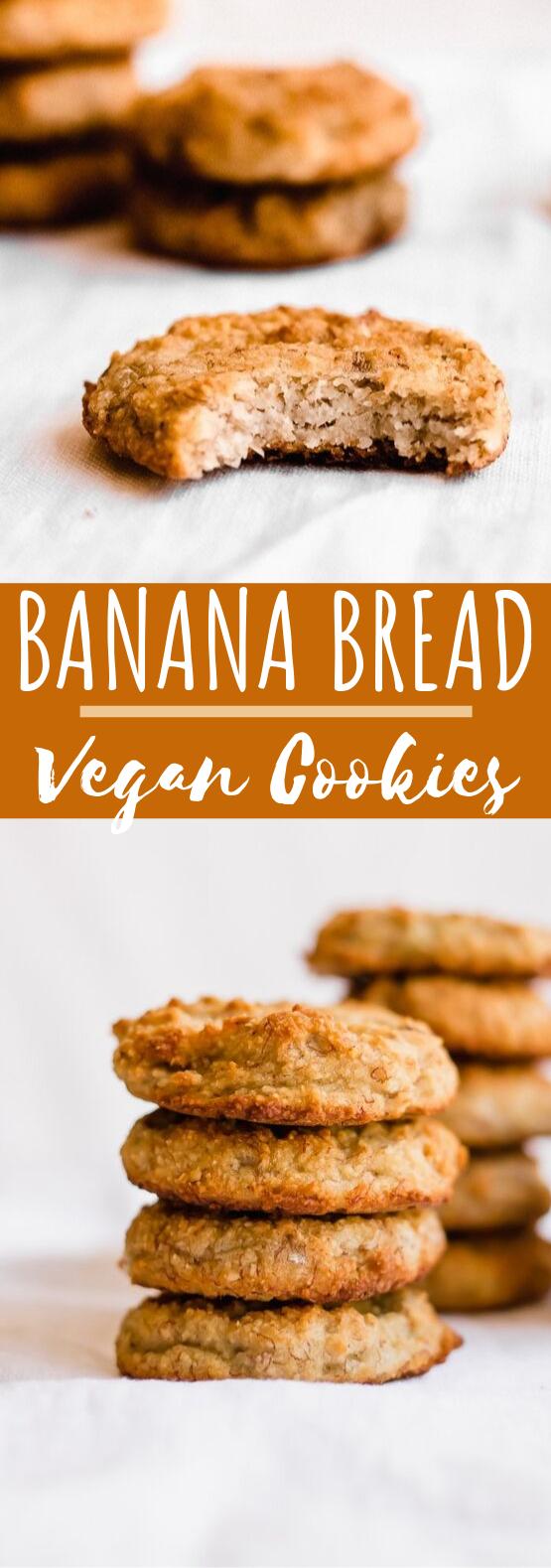 Banana Bread Cookies #cookies #vegan