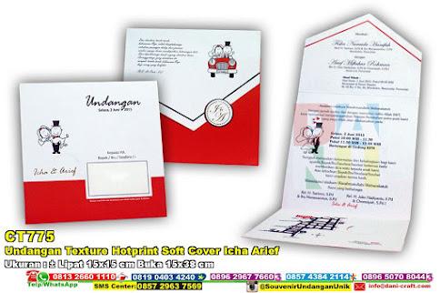 Undangan Texture Hotprint Soft Cover Icha Arief