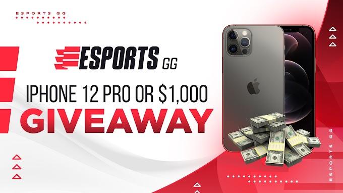 Sorteio de um iPhone 12 Pro ou $1.000 em dinheiro