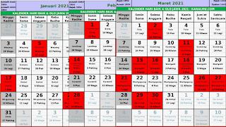 hari baik kalender jawa 2021