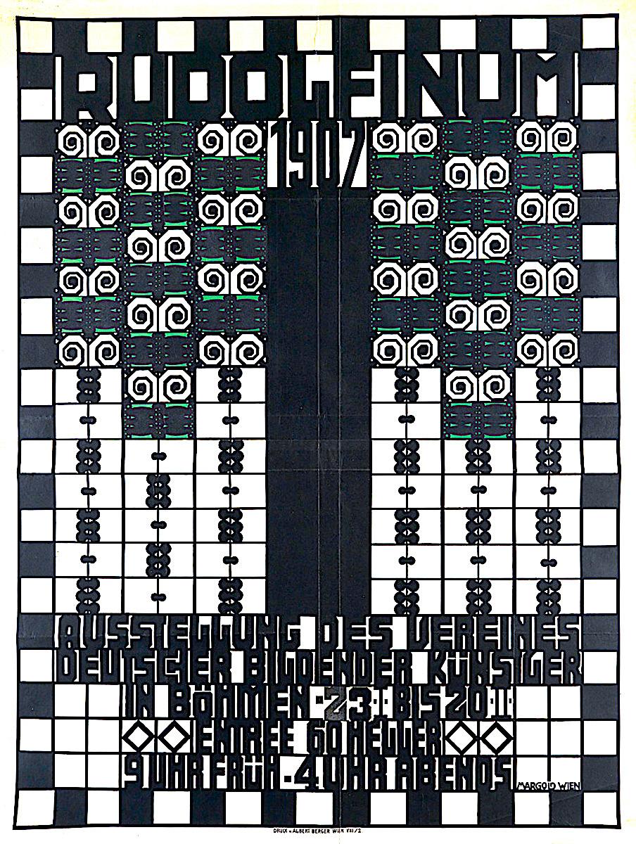 a graphic by E.J. Margold 1907, Rudolfinum 1907