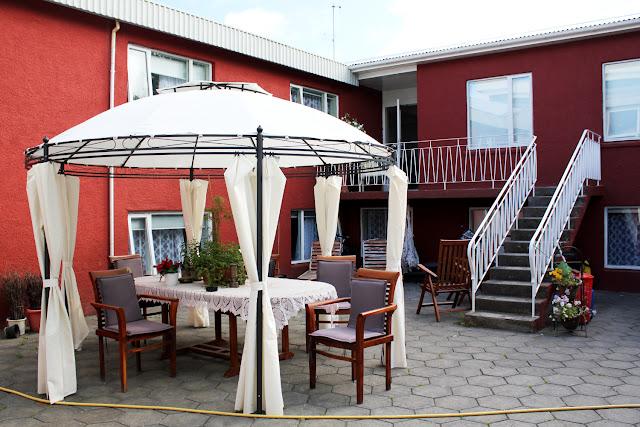 Cenador del jardín del Selfoss Hostel