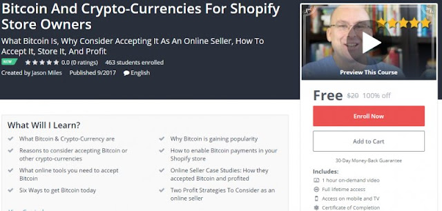 [100% Off] Bitcoin And Crypto-Currencies For Shopify Store Owners| Worth 20$