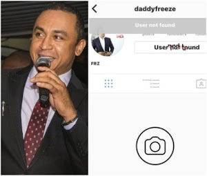 OAP Daddy Freeze loses his Instagram account to hackers