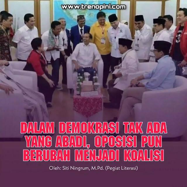 reshuffle kabinet enam menteri, yang salah satunya adalah mantan rivalnya presiden Jokowi ketika pemilihan capres dan cawapres pada pemilu 2019 lalu.