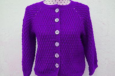 7 - Crochet imagen Chaqueta roja de mujer a crochet y ganchillo por Majovel Crochet