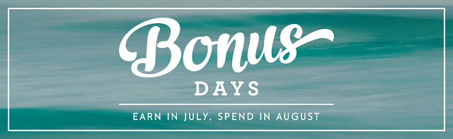Bonus Days - Purchase in July and receive a coupon for $$ to spend in August - Narelle Fasulo - Simply Stamping with Narelle - Shop here - http://www3.stampinup.com/ECWeb/default.aspx?dbwsdemoid=4008228