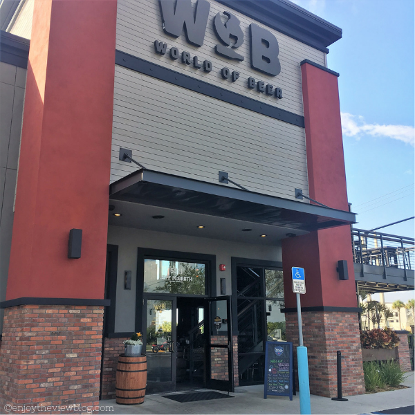 outside of World of Beer showing signage and entrance