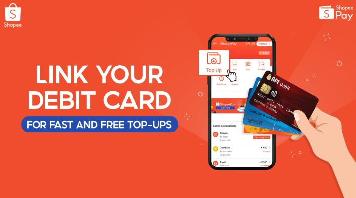 How to link debit card to ShopeePay for easy top-up