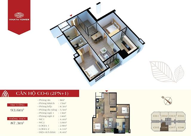 căn CO6 chung cư Vinata Tower
