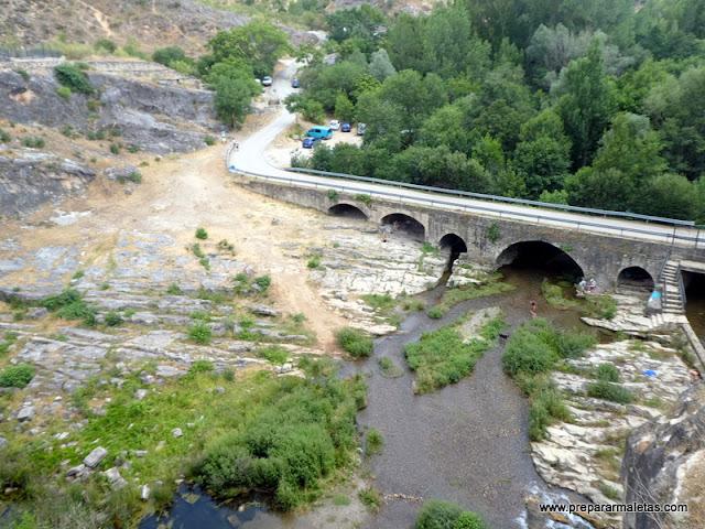 zona de picnic y baño en el río Lozoya