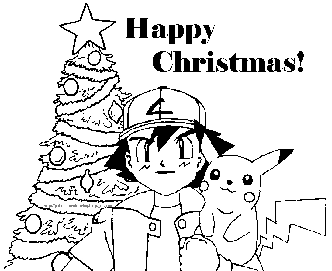 free pokemon christmas coloring pages - photo#2