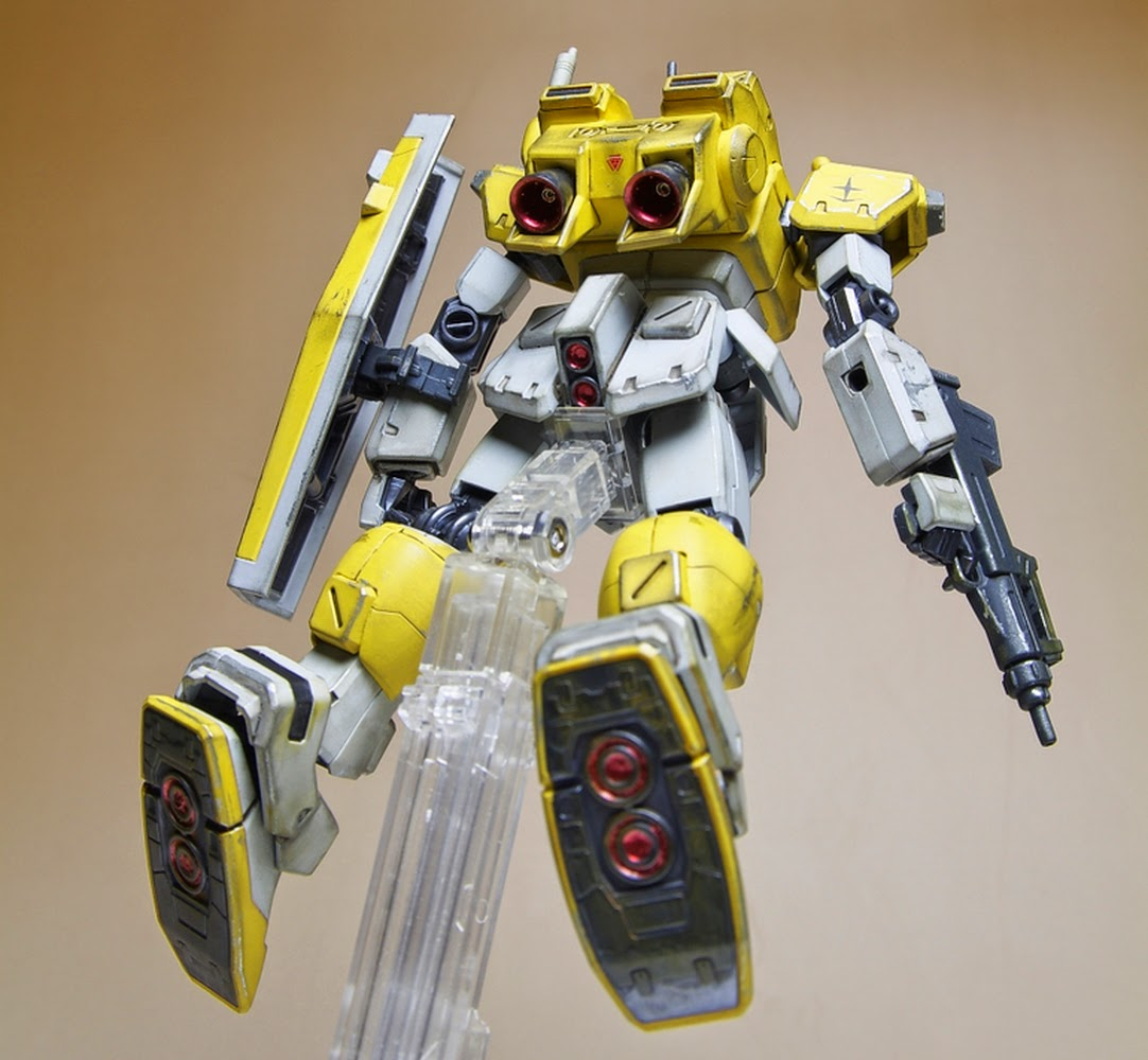 Custom Build Hguc 1 144 Powered Gm Cardigan Colors Gundam Kits