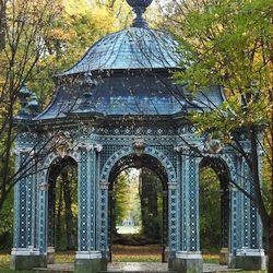 Der Grüne Pavillon stammt noch aus der barocken Gartenanlage