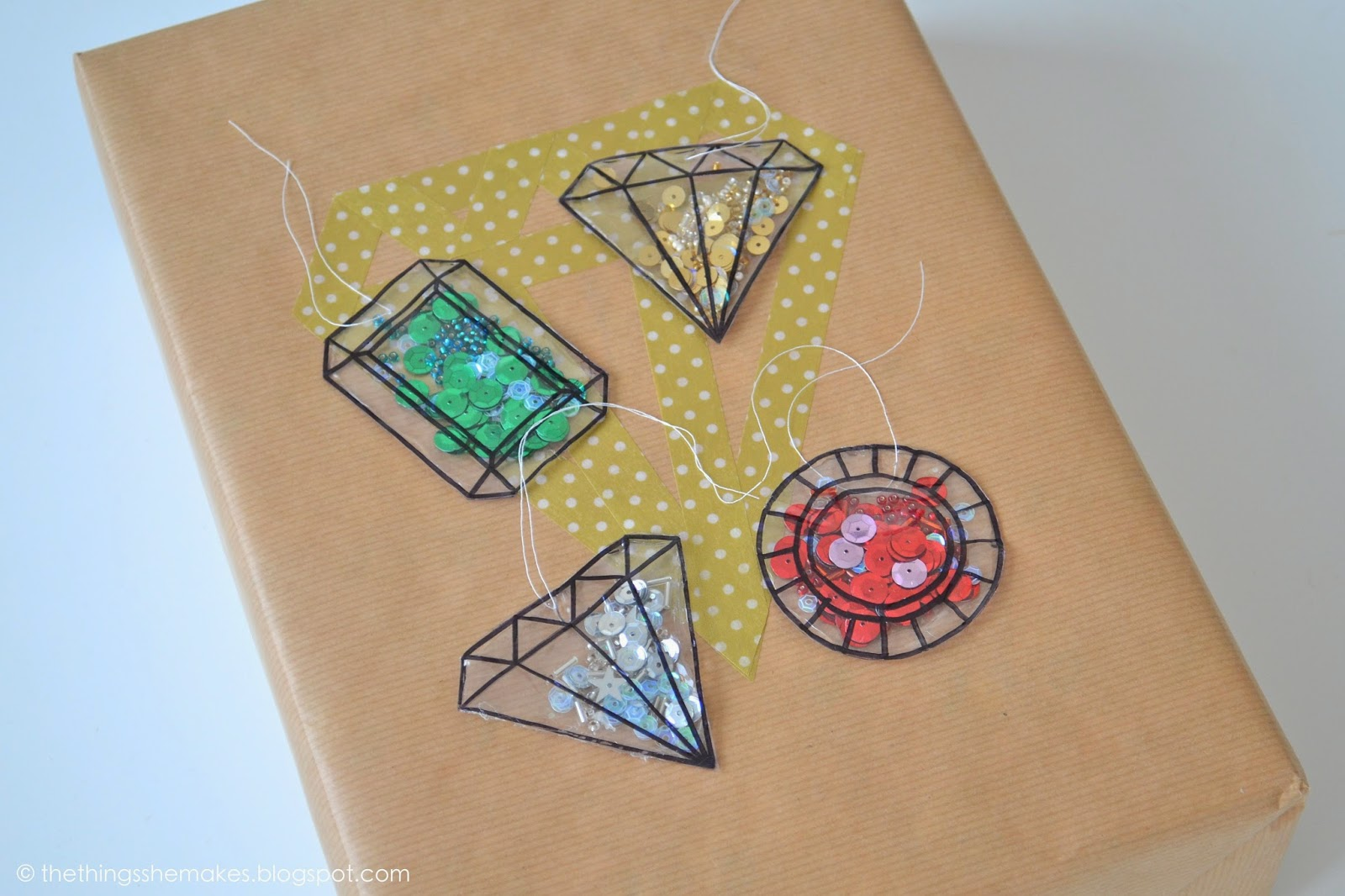 Diy Gift Wrap Gemstone Confetti Tags The Things She Makes