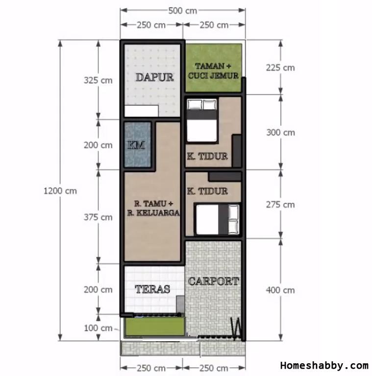 Desain Dan Denah Rumah Minimalis Terbaru Ukuran 5 X 12 M Dengan Tempat Cuci Dan Jemur Baju Yang Asri Homeshabby Com Design Home Plans Home Decorating And Interior Design