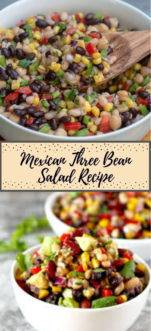 Mexican Three Bean Salad Recipe #vegan #vegetarian #soup #breakfast #lunch