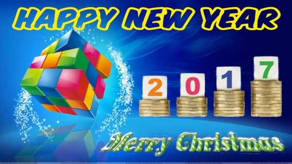 Happy New Year and Merry Christmas Images and Wishes