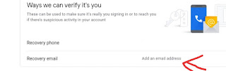 Google Account me Recovery Email Address kaise Add Kare