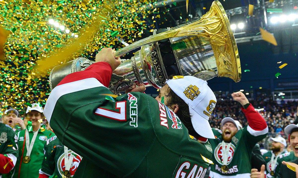 AK Bars surpreende e conquista título da Gagarin Cup na KHL