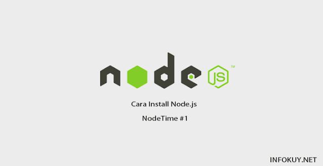 Cara Install Node.js di Window