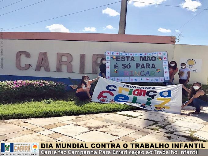 Cariré realiza Campanha Para Erradicação ao Trabalho Infantil