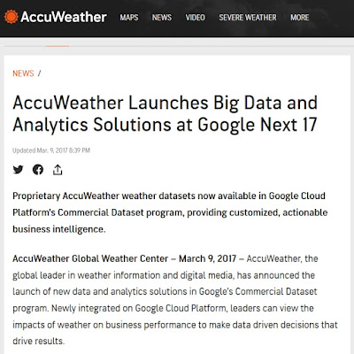 AccuWeather uses big data since 2017