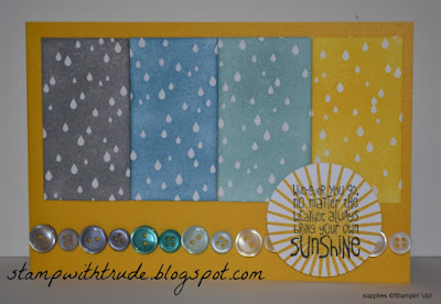 Tuesday Tutorial, emboss resist, Trude Thoman, http://stampwithtrude.blogspot.com , Stampin' Up!, Color Me Irresistible, Kinda Eclectic, Ray of Sunshine, greeting card