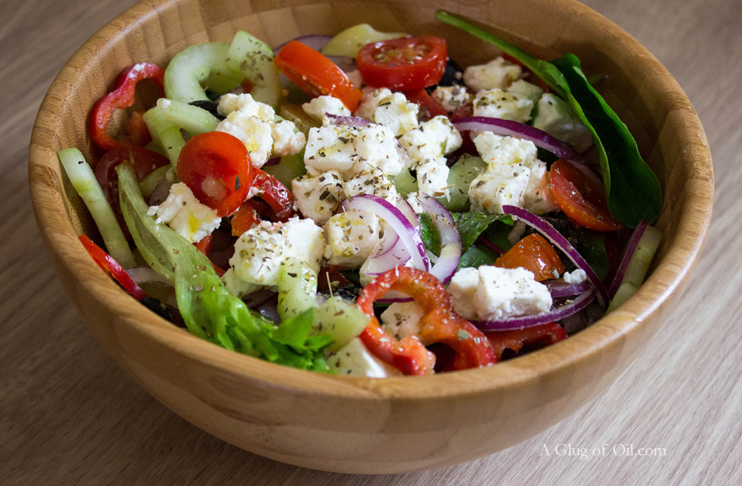 Greek-style Salad and Potatoes