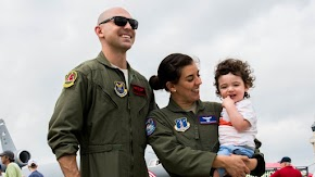 Love was in the air as military couple reunited by Barksdale's ArkLaTex air show
