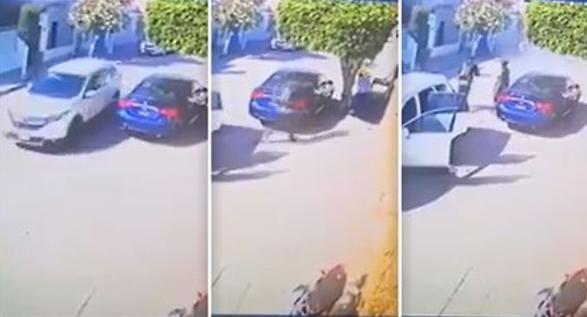 """VIDEO.- Así en segundos asesinaron a """"El Wualo"""" primo de """"El Marro"""" los Sicarios del """"Grupo Elite del CJNG"""", también se ve como ponen la cartulina"""