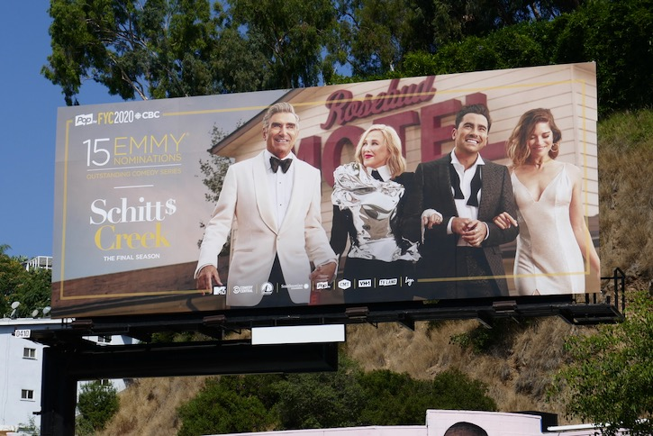 Schitts Creak 2020 Emmy nominee billboard
