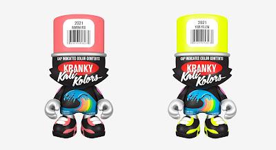 Ramona Red & Yuba Yellow SuperKranky Vinyl Figures by Sket One x Superplastic