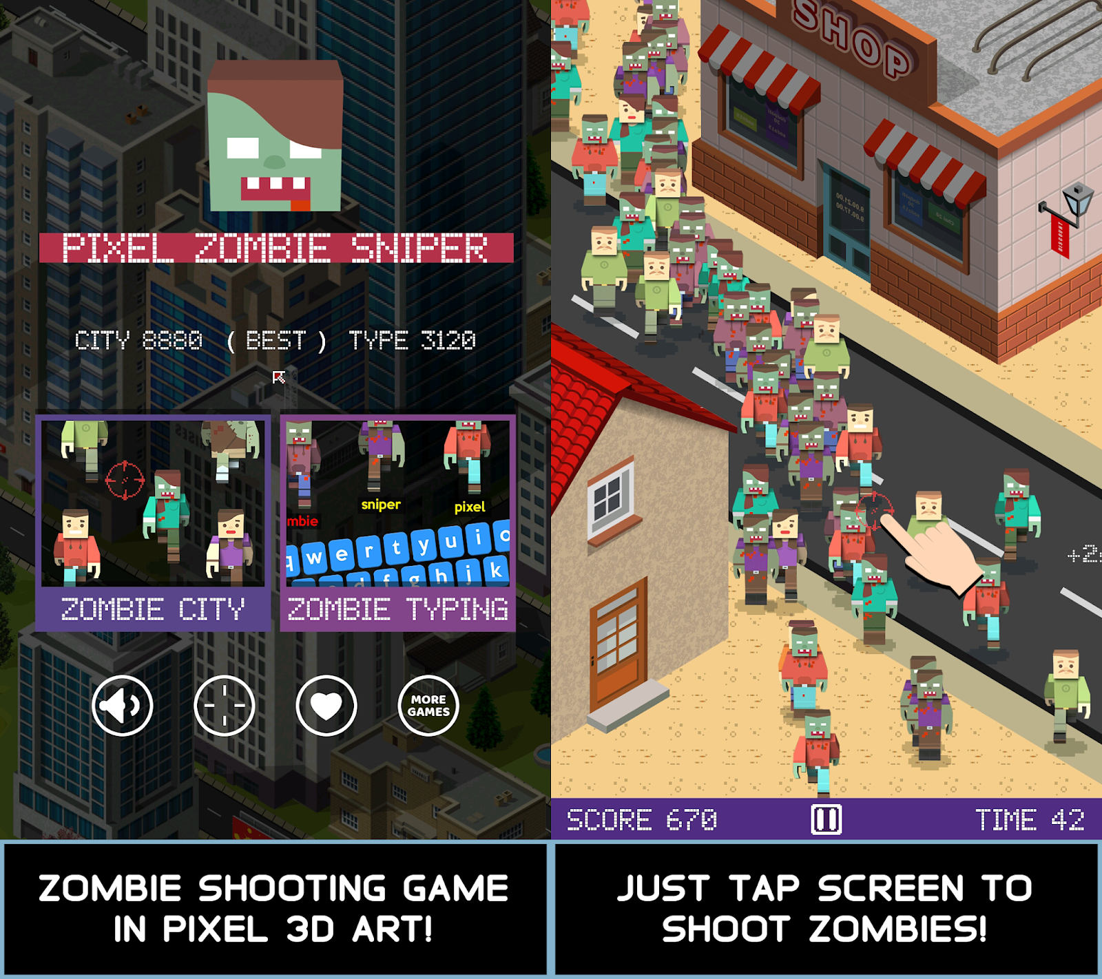 Pixel Zombie Sniper Update Features Zombie City And Zombie