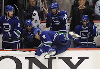 A stumbling Vancouver Canuck player