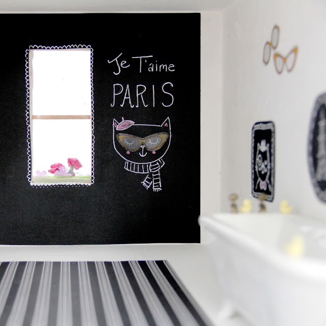 Zoe's Dreamhouse | Adorable Dollhouse Makeover with artist Lady Lucas | Linzer Lane Blog