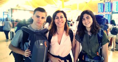 Imagen de Belén, su sobrino Carlos y su hija Claudia