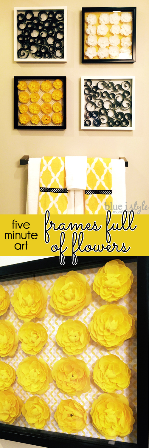 Frames full of flowers easy diy art