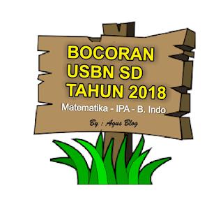DOWNLOAD BOCORAN SOAL USBN Matematika SD Tahun 2018