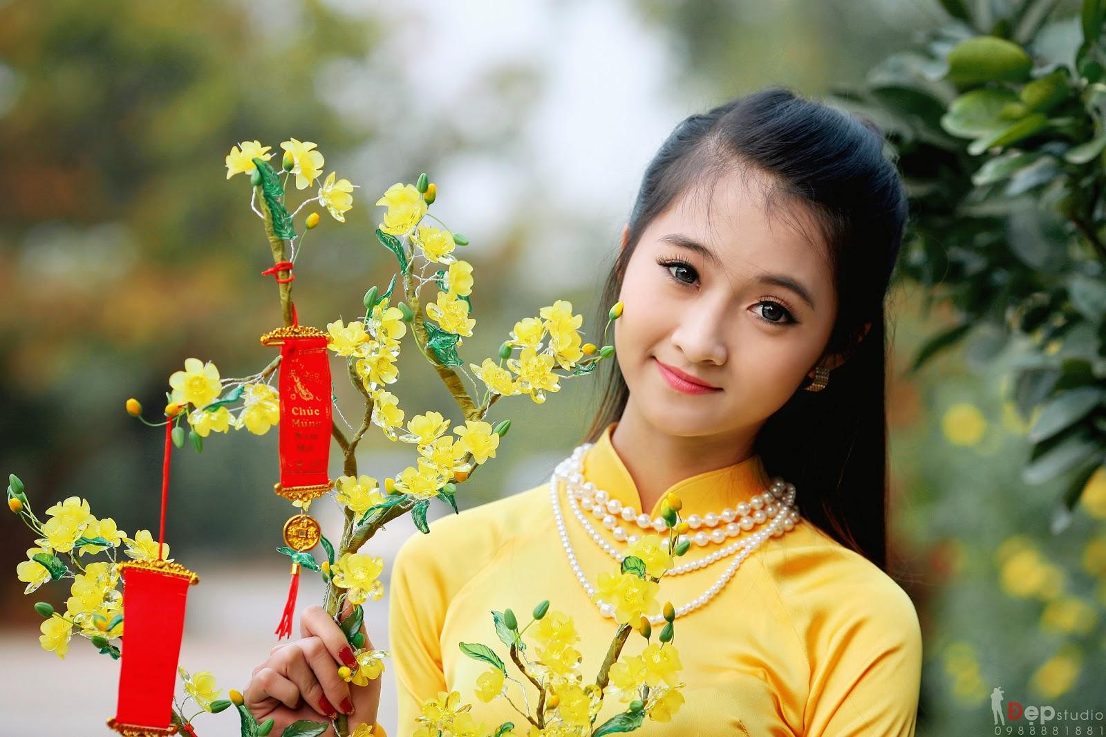 Ảnh đẹp girl xinh Áo dài truyền thống Việt Nam - Ảnh 13