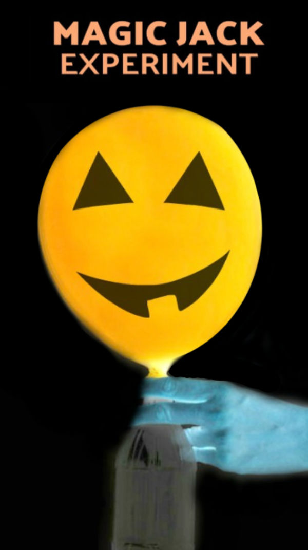 Wow the kids and make a magic jack-o-lantern!  This expanding Halloween experiment using balloons, baking soda, and vinegar. #expandingballoonexperiment #balloonexperimentsforkids #balloonexperiments #balloonexperimentbakingsoda #magicballoonexperiment #magicjackolantern #jackolanternballoon #halloweenexperimentsforkids #halloweenactivities #growingajeweledrose #scienceexperimentskids #activitiesforkids