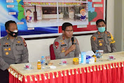 Arahan Kapolda Kalbar Kepada Personel Pam TPS di Polsek Nanga Mahap Polres Sekadau
