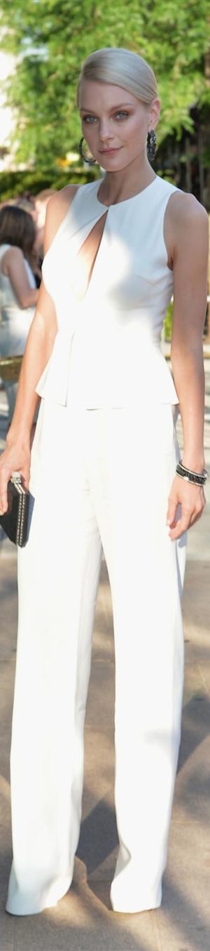 Jessica Stam in Giulietta Jumpsuit CFDA Awards