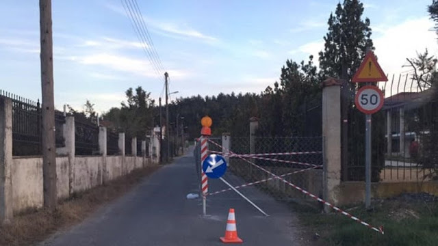 Φωτογραφίες: Απίστευτος Θεσσαλονικιός περιέφραξε δρόμο για να... μην τρέχουν οι οδηγοί