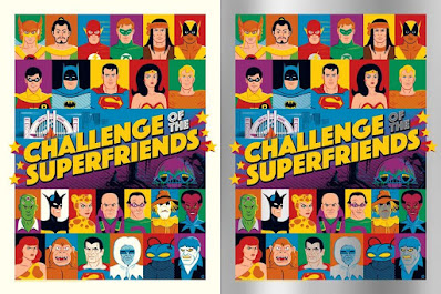 """Challenge of the Superfriends"" DC Comics Screen Print by Dave Perillo x Grey Matter Art"