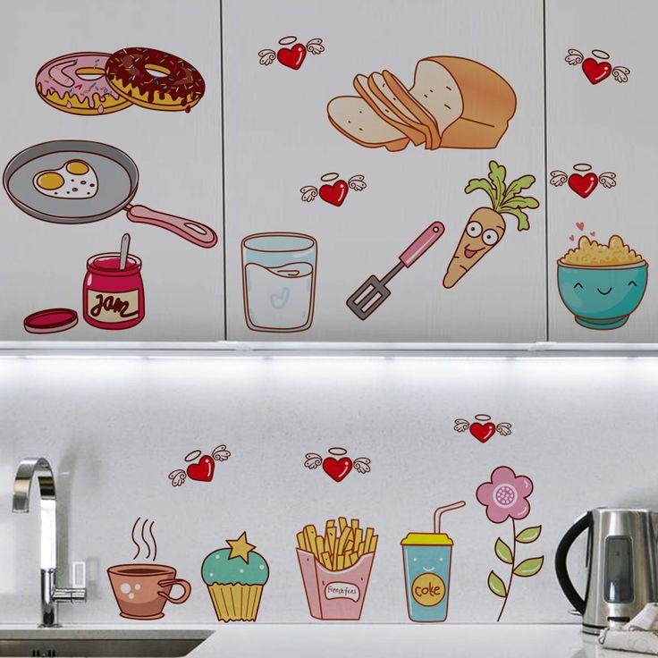 Cocinas con adhesivos decorativos decoraci n de cocinas - Pegatinas para cocinas ...
