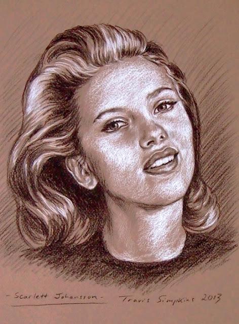 Scarlett Johansson. Actress and Singer. by Travis Simpkins